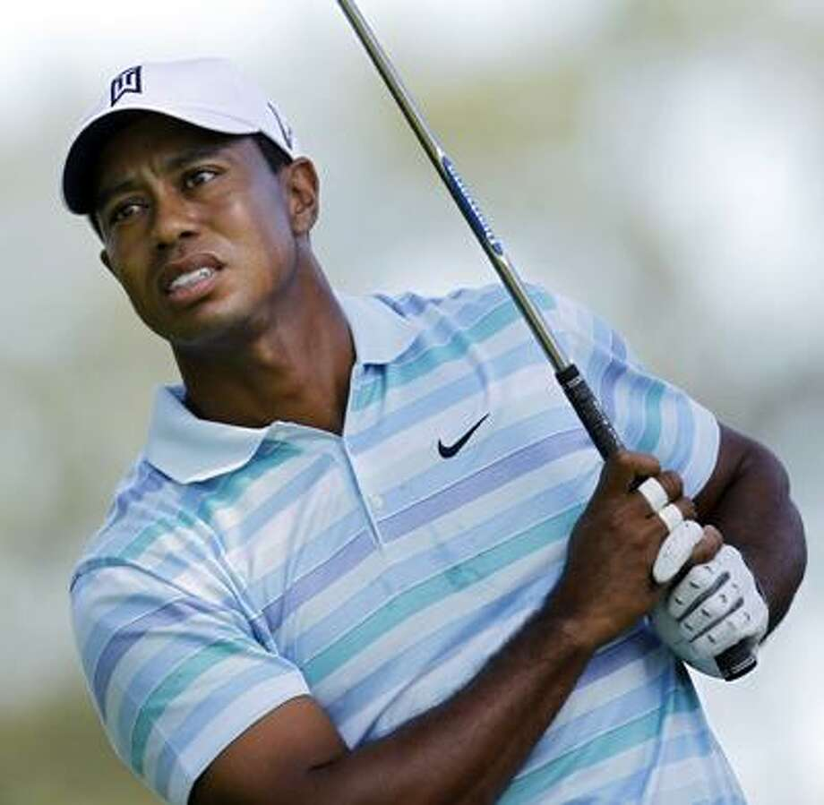 Tiger Woods struggled in the second round of the Barclays Friday. (AP) Photo: ASSOCIATED PRESS / AP