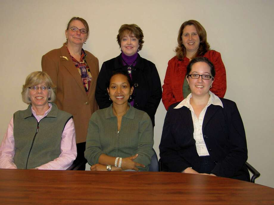 Standing, from left:  Denise Garrison (2009 Secretary), Janice Lexton (Membership), Tammey Dickerson (President-Elect). Sitting, from left: Kathleen Wargo (2009 Director-at-Large), Rosale Lobo (Education), Julie Dickinson (President). Not pictured are Mary-Ann Abramczyk (Treasurer), Diane Marangelo (Director-at-Large) and Laura Grossman Nissim (2010 Secretary).