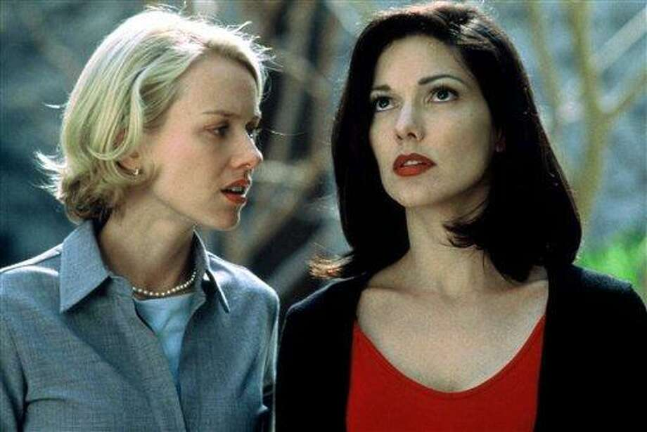 "In this 2001 publicity image originally released by Universal Pictures, Naomi Watts, left, and Laura Harring are shown in a scene from, "" Mulholland Drive"". (AP Photo/Universal Pictures, file) Photo: AP / AP2010"