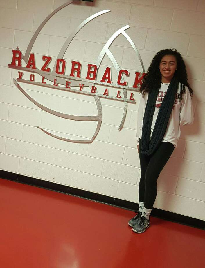Antonian volleyball player Maylin Garrett, shown in August 2017, has committed to play at Arkansas in the SEC. Photo: Courtesy Photo / Courtesy Photo