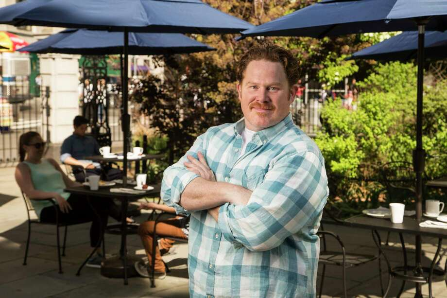 "Casey Webb, host of ""Man v. Food"" on the Travel Channel. Photo: Travel Channel / © 2017, The Travel Channel, L.L.C. All Rights Reserved"