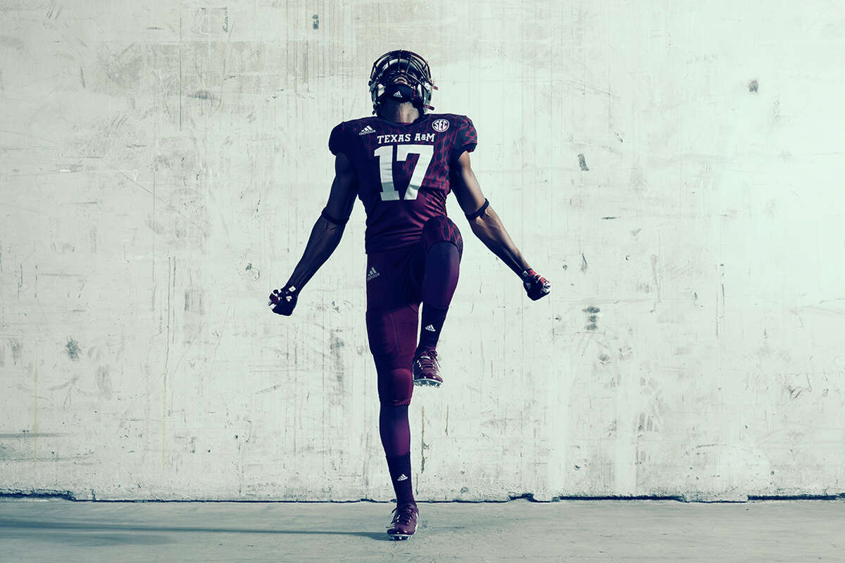 PHOTOS: An in-depth look at adidas' alternate jerseys that will be worn this season. A look at the uniforms Texas A&M will wear against Mississippi State on Oct. 28, 2017 at Kyle Field. Browse through the photos above for a look at the Aggies' jersey as well as other alternative jerseys from adidas that will be worn this season.