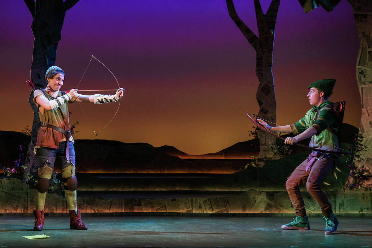 Catie LeCours as Marion and Henry Wager as Robin Hood in The Glimmerglass Festival's world-premiere youth opera,