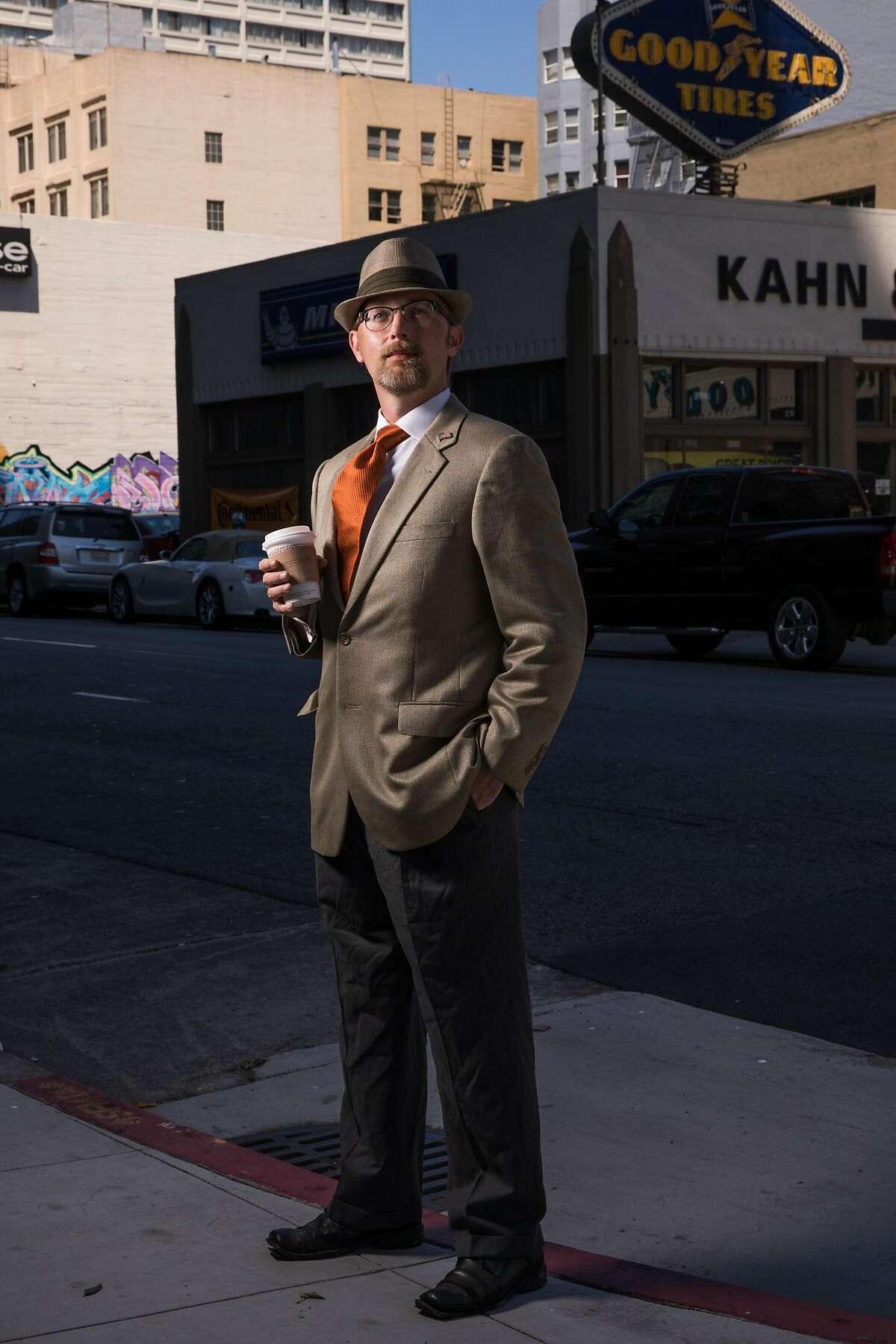 Jason Lee Jones photographed on the corner of Turk and Larkin Street in San Francisco, Calif. Friday, July 21, 2017.