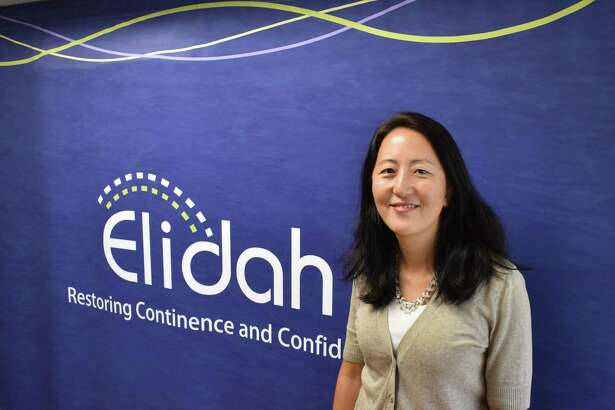 Gloria Kolb on Aug. 16, 2017, at the Monroe, Conn. office of her Elidah which is developing medical devices to treat a urological disorer.