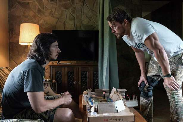 "This image released by Bleecker Street shows Adam Driver, left, and Channing Tatum in ""Logan Lucky."" (Claudette Barius/Fingerprint Releasing/Bleecker Street via AP) ORG XMIT: NYET867"