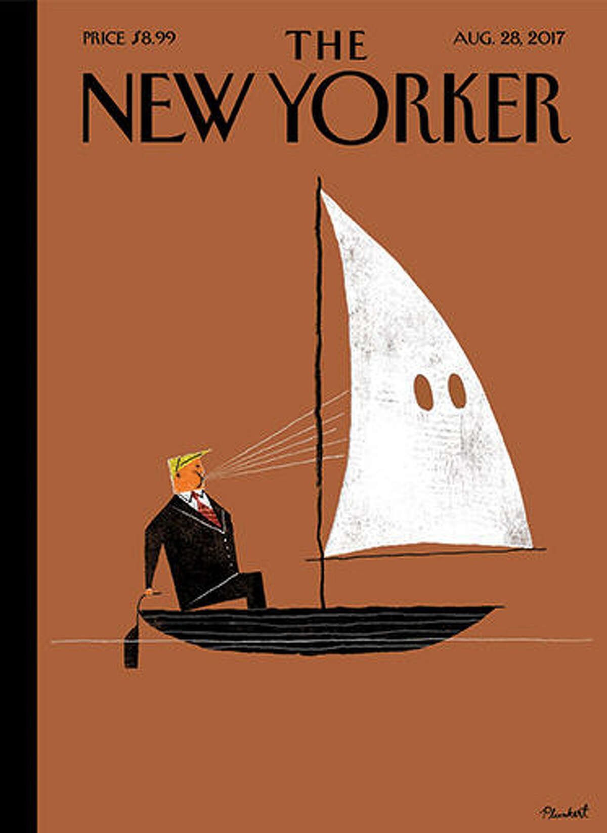 Magazines with national circulations have created cover art focused on Donald Trump since he's taken office.