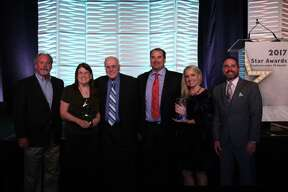 GHBA Remodelers Council members attended the 2017 Star Awards ceremony. From left are Bob Davis of Riverstone Builders, Lorraine Hart of Ideal Consulting Services, Art Hart of Websites By Ideal, Shawn Vacek of Remodelers of Houston, D'Ann Brown of Strucsure Home Warranty and recipient of the Excellence Under 45 Award, and Kevin Vick of Vick Construction & Remodeling.