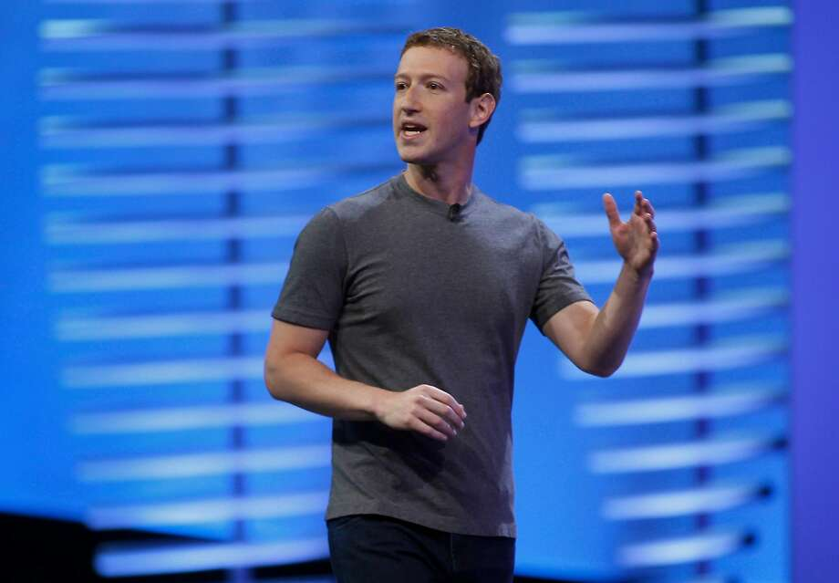 FILE -- Mark Zuckerberg delivers the keynote speech at Facebook's F8 Developers Conference in San Francisco in this April 2016 file photo.The founder and chief executive officer of the world's biggest social media company expects to sell 35 million to 75 million shares, Menlo Park, California-based Facebook said Friday in a regulatory filing. Photo: Karl Mondon, TNS