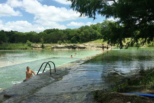 At Blanco State Park, take a dip or rent a tube to beat the heat.