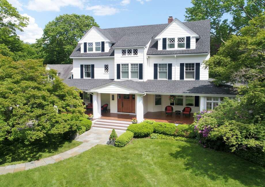 """""""Fairhaven,"""" at 209 West Lane in Ridgefield, Conn. was built in 1910 and was the home of Geraldine Farrar, an opera singer and film actress. She had a large following among young women in the early 1900s, who were dubbed """"Gerry-flappers."""" Photo: Contributed Photo / Contributed / The News-Times Contributed"""