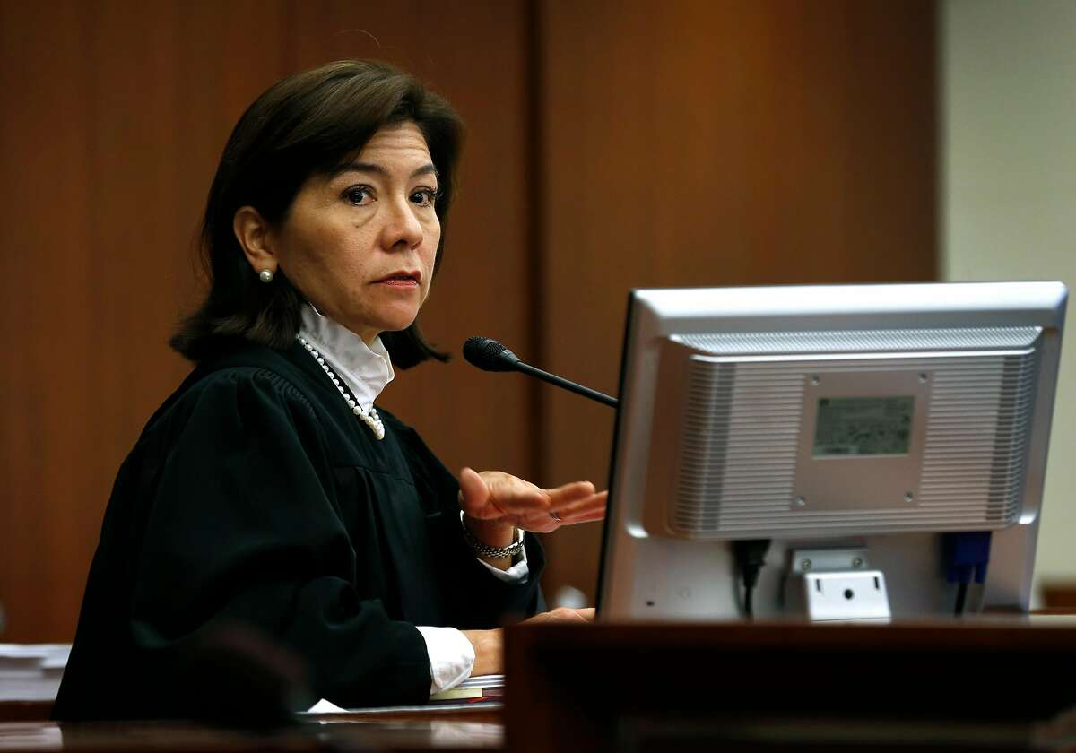 Superior Court Judge Suzanne Ramos Bolanos hears final arguments from attorneys in San Francisco on Aug. 17, 2017.
