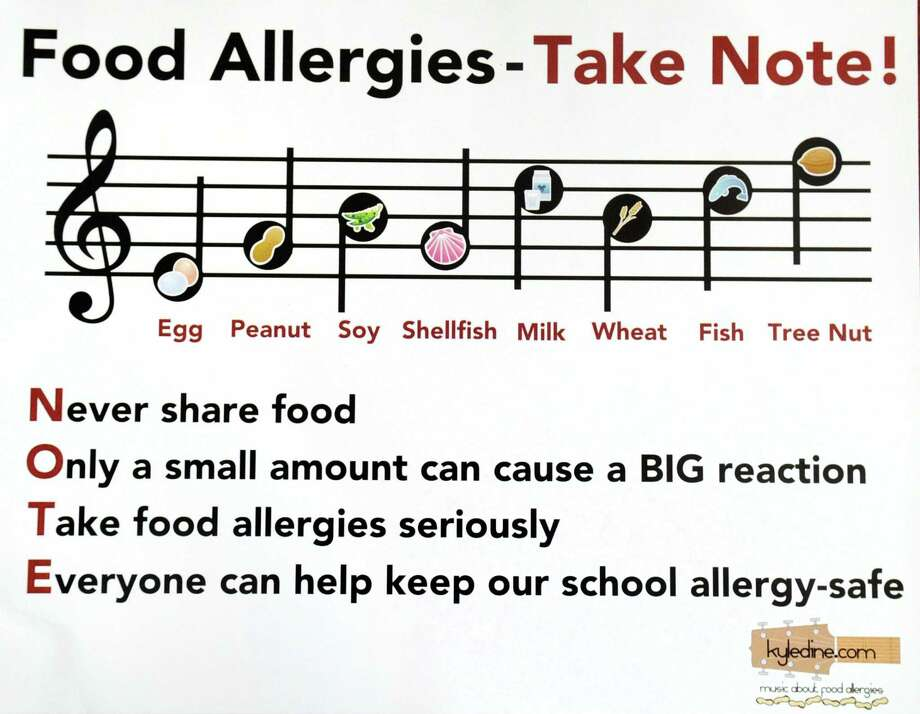 Food allergy awareness literature that has been provided to Greenwich public school officials. Photo: Contributed / Greenwich Time