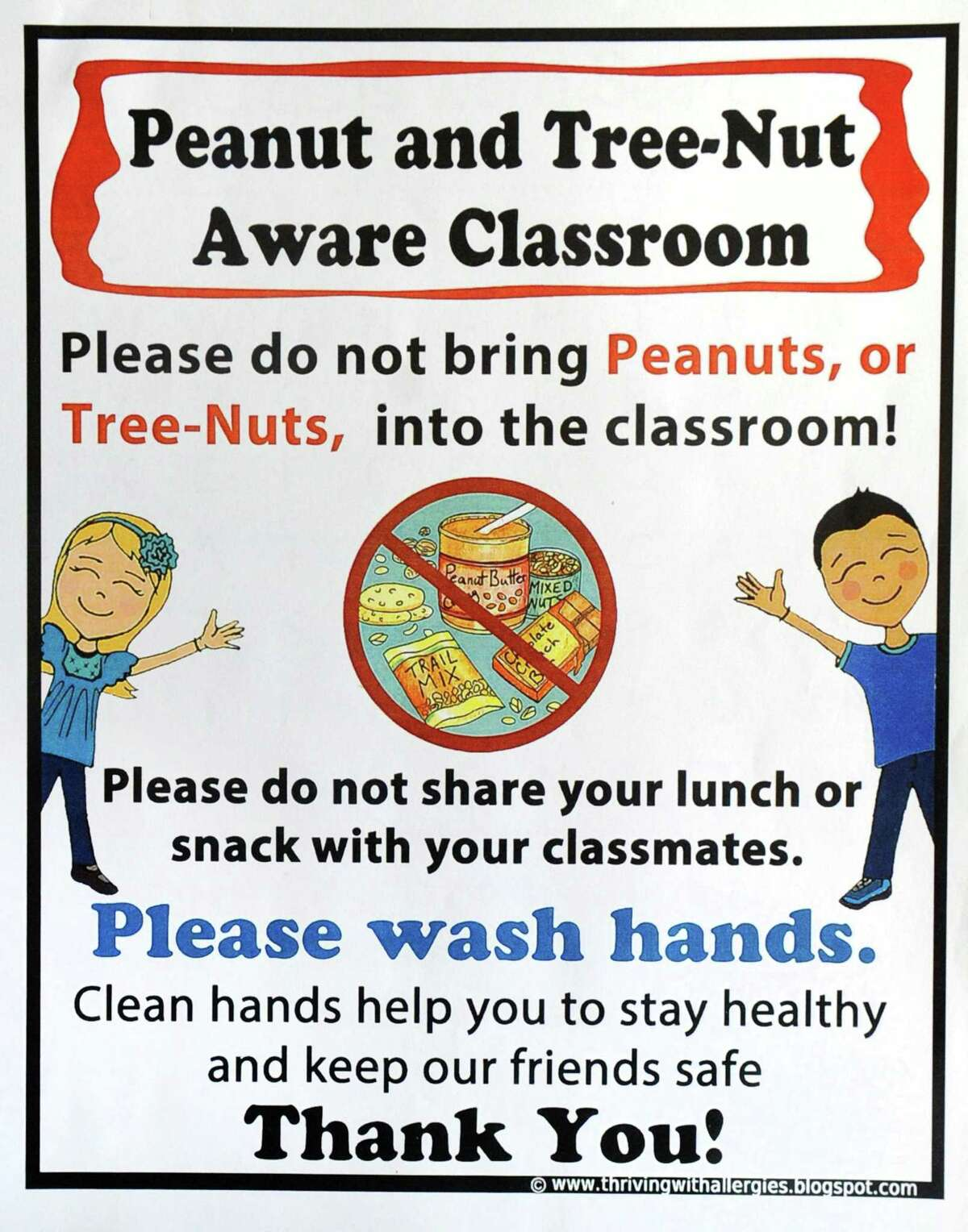 Food allergy awareness literature that has been provided to Greenwich public school officials.
