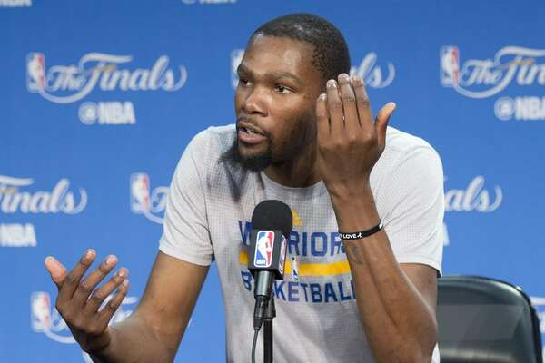 """Warriors forward Kevin Durant said, """"I definitely want to be the voice of where I come from."""""""