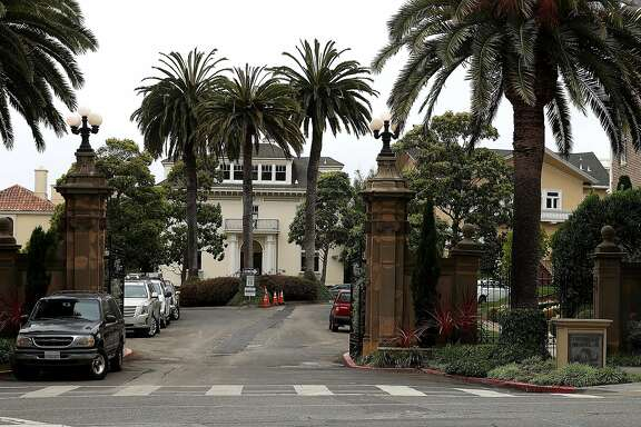 SAN FRANCISCO, CA - AUGUST 09:  A  view of Presidio Terrace on August 9, 2017 in San Francisco, California. California couple Tina Lam and Michael Cheng purchased the streets and sidewalks of Presidio Terrace, a private cul-de-sac that features several multi million dollar mansions, for $90,000 at public auction. The couple was able to purchase the street and common areas when the home owner's association defaulted on the property tax for the street.  (Photo by Justin Sullivan/Getty Images)