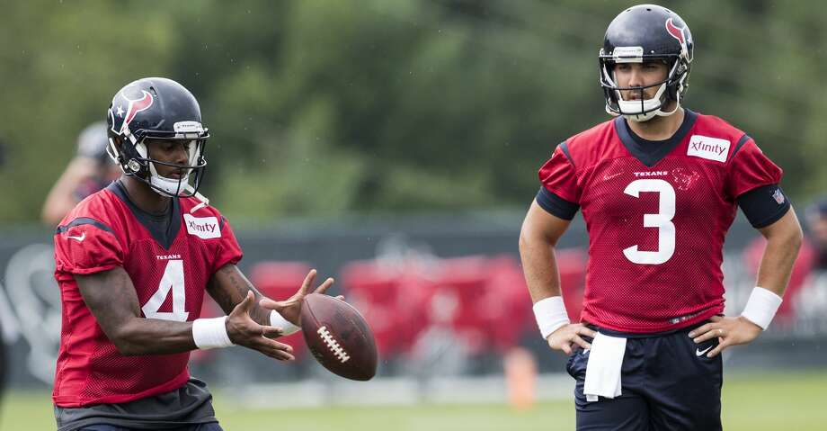 Texans QB Tom Savage (3) got public confirmation of his starter role Tuesday - if it was actually needed - with rookie Deshaun Watson entrenched as the backup.Click through the gallery to revisit the team's tortured history at football's most important position. Photo: Brett Coomer/Houston Chronicle