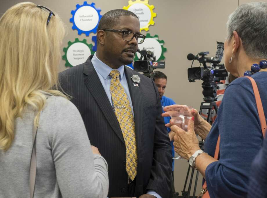 Midland Chamber of Commerce held a meet and greet with new MISD Superintendent Orlando Riddick 8/17/17 evening at the Chamber offices. Tim Fischer/Reporter-Telegram Photo: Tim Fischer/Midland Reporter-Telegram