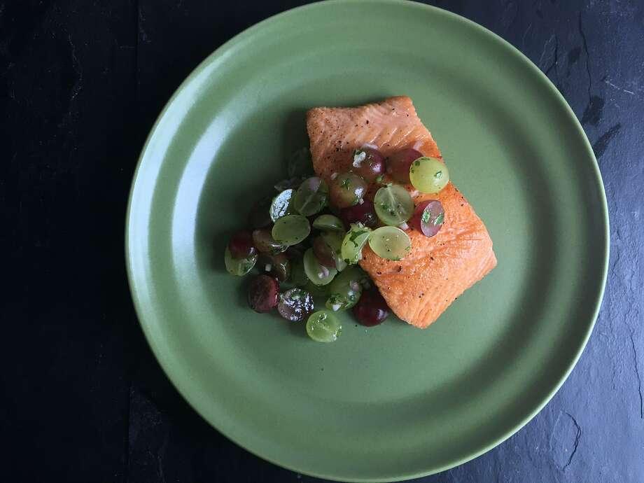 Pan-seared salmon with grape salsa. Photo: Sarah Fritsche