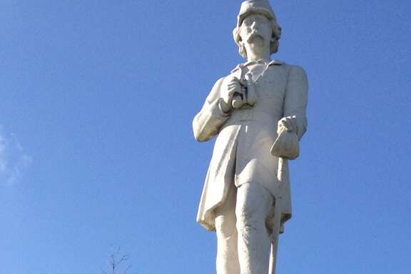 Dick Dowling's statue looks out over MacGregor Drive on the backside of Hermann Park. (Chronicle file photo)