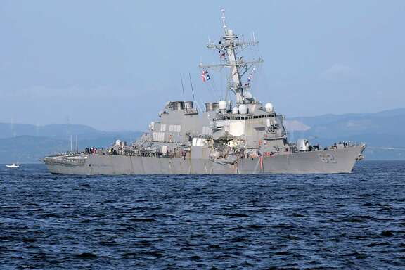 A top Naval commander said he lost confidence in the top three leaders of the USS Fitzgerald after it collided with a container ship, killing seven sailors.