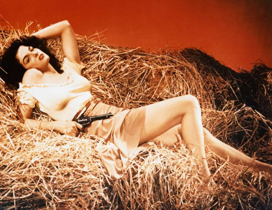 Actress Jane Russell portrays Billy the Kid's girlfriend, Rio, in the 1943 motion picture The Outlaw. (Photo by Herbert Dorfman/Corbis via Getty Images) Photo: Herbert Dorfman/Corbis Via Getty Images