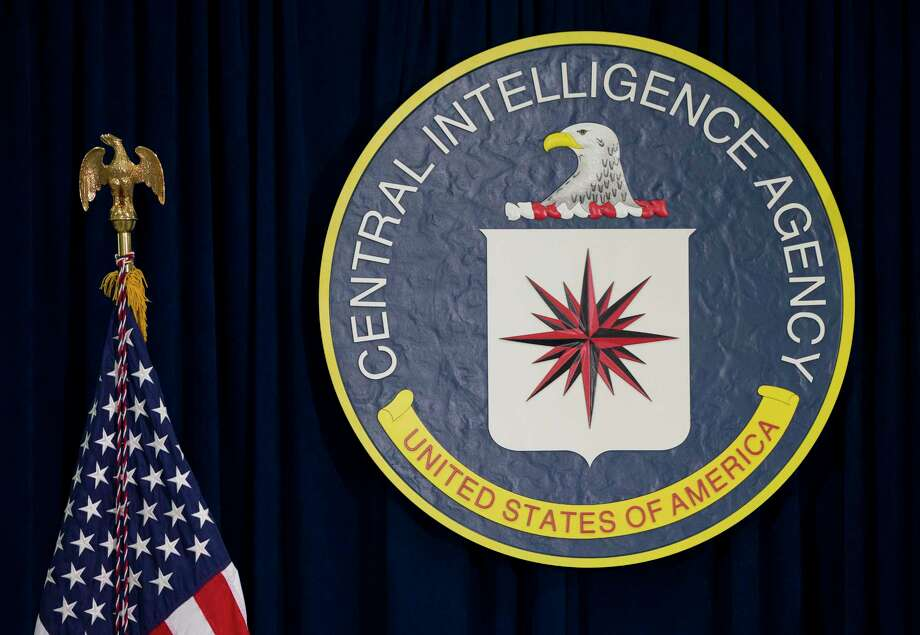 FILE - This April 13, 2016 file photo shows the seal of the Central Intelligence Agency at CIA headquarters in Langley, Va .A settlement was announced Thursday, Aug. 17, 2017, in a landmark lawsuit brought by the American Civil Liberties Union against two psychologists involved in designing the CIA's harsh interrogation program used in the war on terror. (AP Photo/Carolyn Kaster, File) Photo: Carolyn Kaster, STF / Copyright 2017 The Associated Press. All rights reserved.