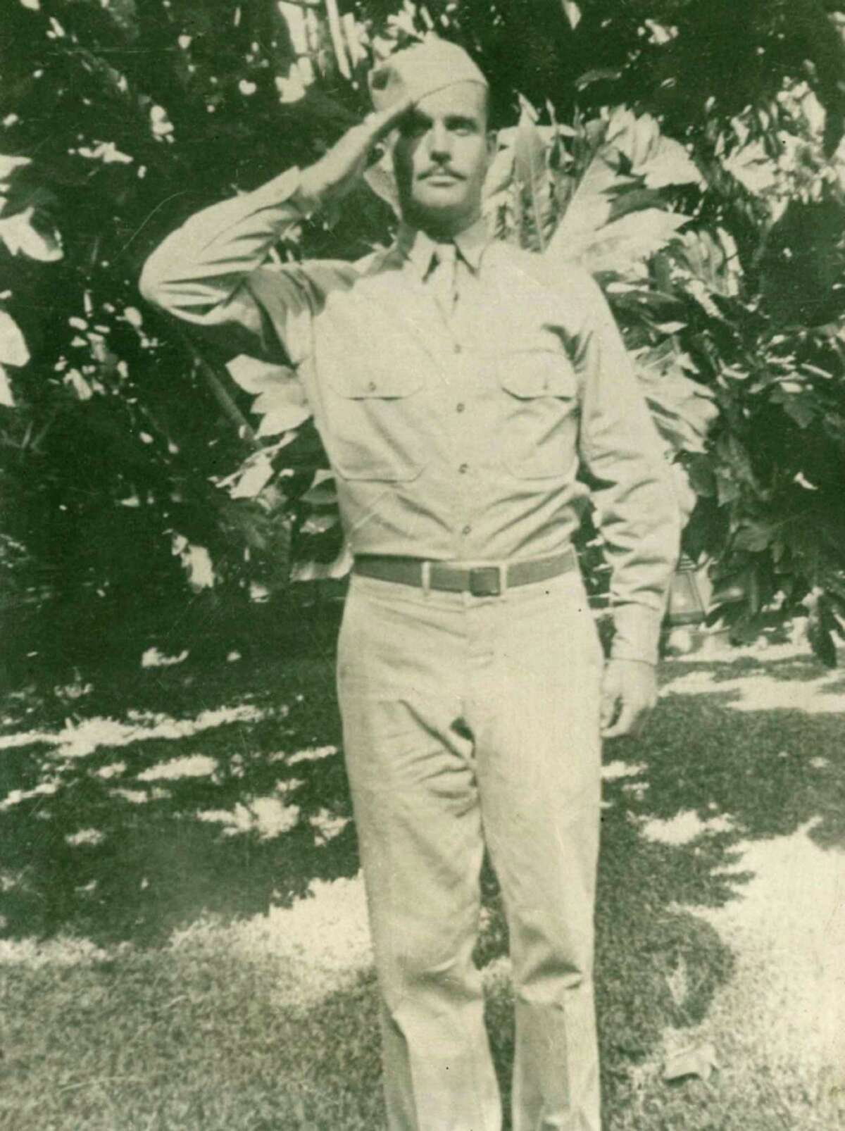 In this 1942 photo provided by Dale Ross shows his uncle, Pfc. Dale W. Ross in Hawaii. He was the third of four brothers who fought in WWII. Assigned to the Army's 25th Infantry Division, he was listed as missing in action in January 1943, during the final weeks of the Guadalcanal campaign. He was last seen in an area that saw heavy fighting around a Japanese-held hilltop. (Courtesy of Dale Ross via AP) ORG XMIT: NYR201