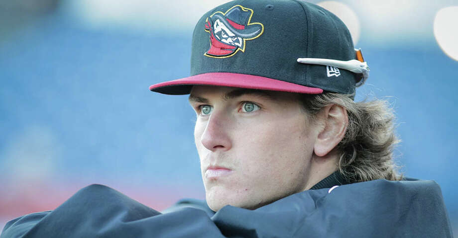 Forrest Whitley struck out the side twice, in the second and the fifth, and threw 61 of his 92 pitches for strikes in his Class AA debut. Photo: Courtesy Photo/Quad Cities River Bandits