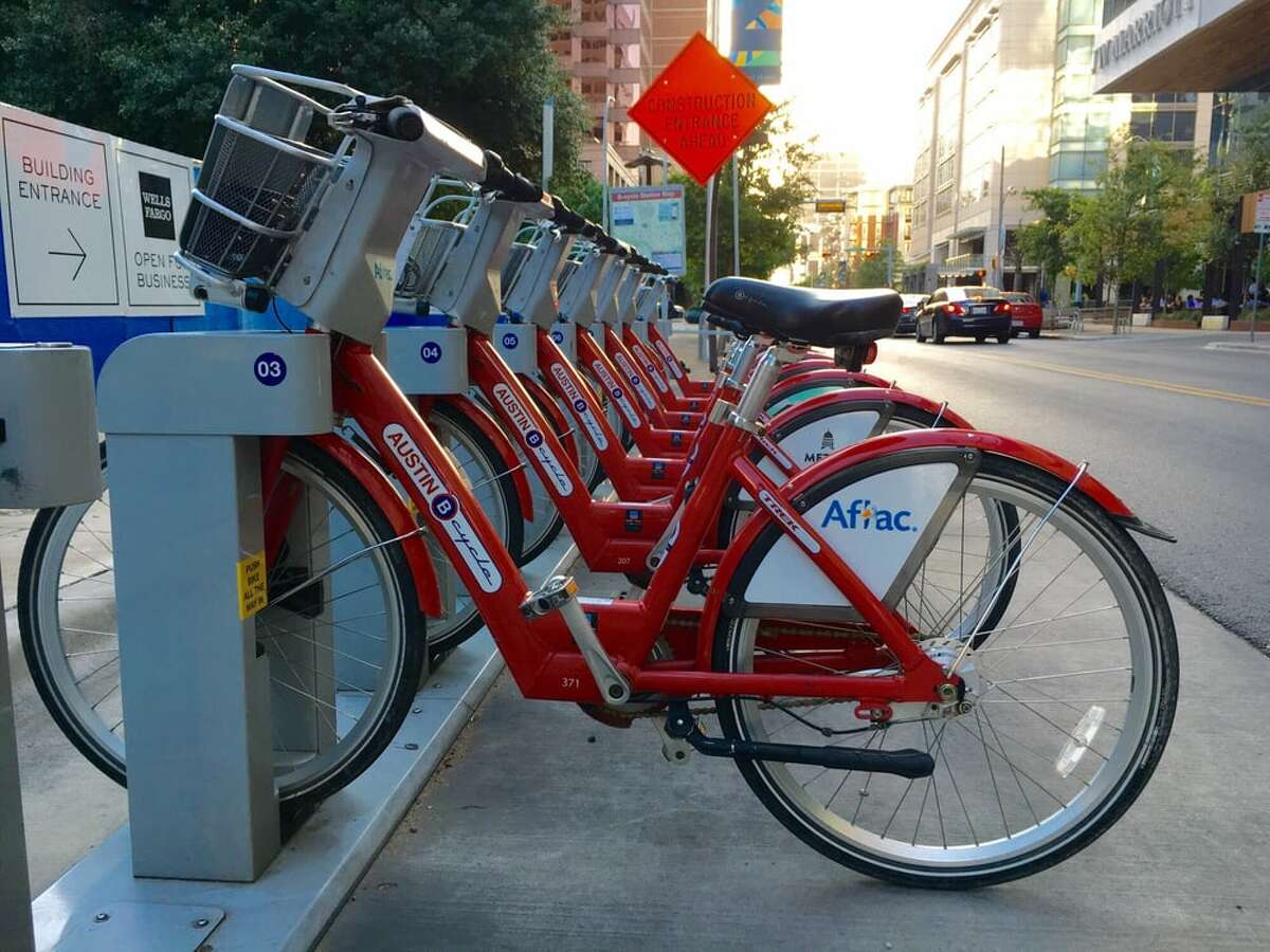 Austin, Texas B-Cycle Single ride cost: N/A Day pass: $12 for unlimited 30-min. trips Annual membership: $80 for unlimited 60-min. rides