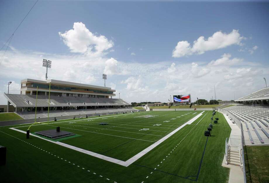 Legacy Stadium, which joins Rhodes Stadium as the host venues of Katy ISD's schools, was gleaming ahead of its dedication ceremony Thursday. Katy Taylor will host Foster in the stadium's first game Aug. 31. Photo: Melissa Phillip, Staff / © 2017 Houston Chronicle