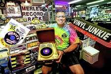 Michael J. Papa, owner of Merle's Record Rack in Orange.