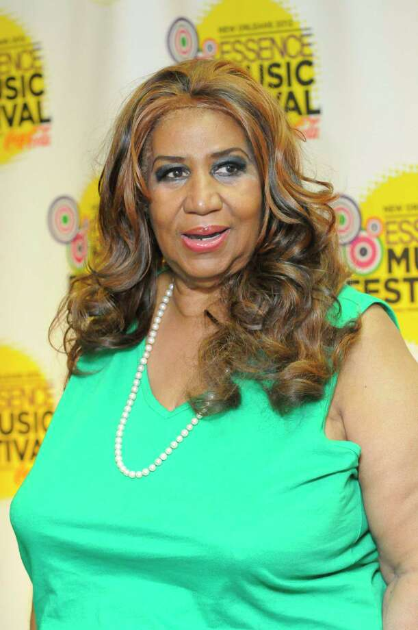 Aretha Franklin poses for photos at the Essence Music Festival in New Orleans on Sunday, July 8, 2012.  (Photo by Cheryl Gerber/Invision/AP) Photo: Cheryl Gerber / 2012 Invision