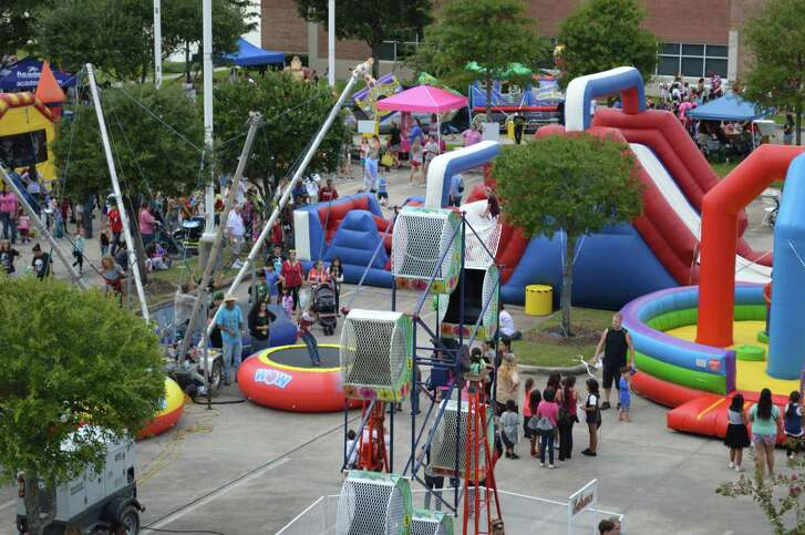 The East Montgomery County Improvement District has held Back-to-School Bash for more than 10 years, during which time it has grown to include a carnival, petting zoo, vision screenings, bounce house and more. This photo was taken at last year's event.