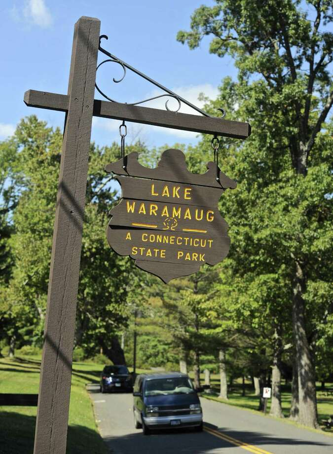 File photo of a sign for Lake Waramaug State Park Photo: H John Voorhees III / Hearst Connecticut Media / The News-Times