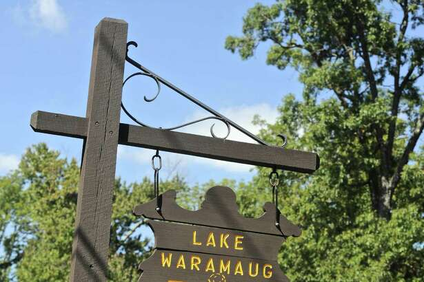 File photo of a sign for Lake Waramaug State Park