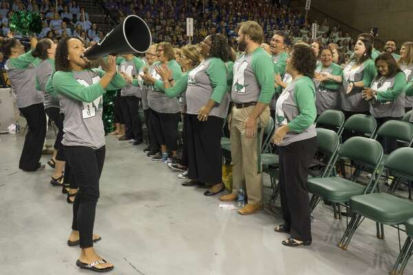 MISD schools were task with producing an original school cheer and performing it 8/18/17 to help kick off the 2017 MISD Convocation. Tim Fischer/Reporter-Telegram