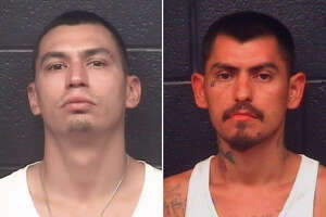 George Cerda, 26, and Humberto Guzman, 28, were served with an arrest warrant charging them with aggravated robbery with a firearm.