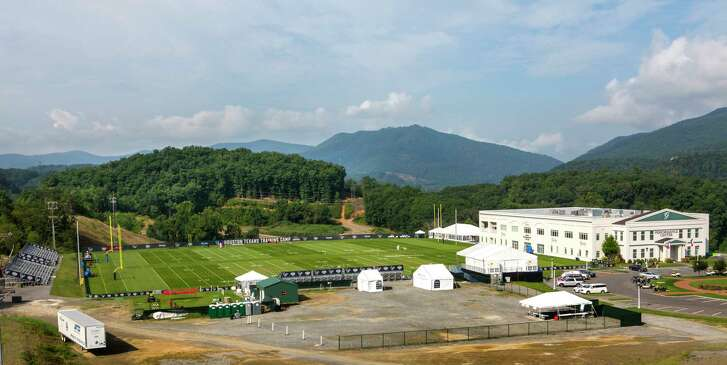 The Greenbrier Sports Performance Center, where the Houston Texans are holding training camp, is shown on Saturday, Aug. 12, 2017, in White Sulphur Springs, W.Va.
