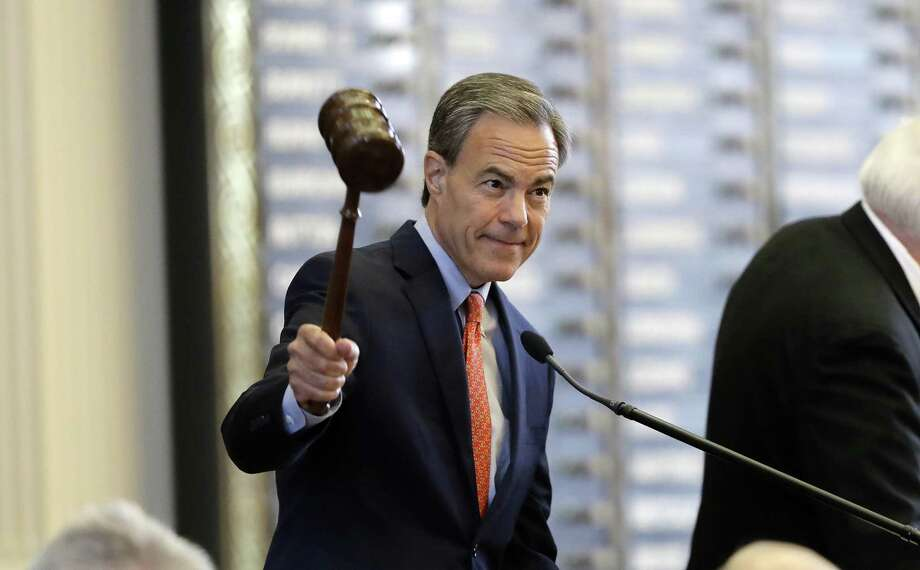 "Texas Speaker of the House Joe Straus, R-San Antonio, calls the House of Representatives to order at the start of the special session in July. A reader praises Straus and other House members for torpedoing the ""bathroom bill."" Photo: Eric Gay /Associated Press / Copyright 2017 The Associated Press. All rights reserved."