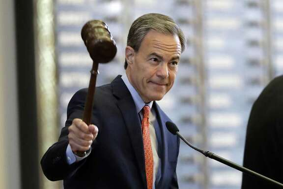 "Texas Speaker of the House Joe Straus, R-San Antonio, calls the House of Representatives to order at the start of the special session in July. A reader praises Straus and other House members for torpedoing the ""bathroom bill."""