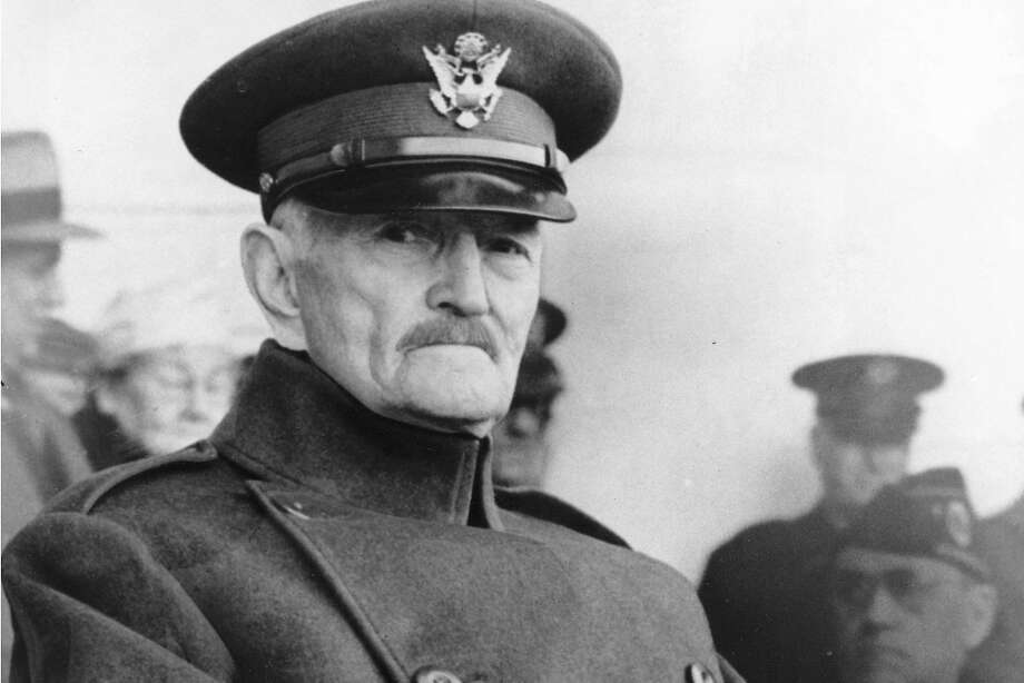 FILE - In this Nov. 11, 1942, file photo, U.S. Gen. John J. Pershing appears in uniform at Armistice Day ceremonies at Arlington Cemetery in Arlington, Va. President Donald Trump is being criticized for lauding the alleged tactics of Gen. John Pershing in dealing with Islamic extremists in the Philippines. (AP Photo) Photo: Associated Press