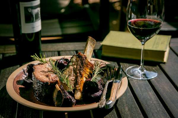 The Beef grilled over Cabernet Barrels at Charter Oak in St. Helena, Calif., is seen on August 9th, 2017.