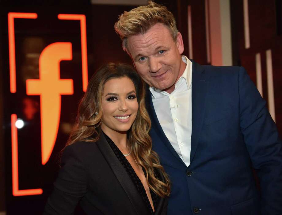 "Gordon Ramsay welcomed his special guest, ""Desperate Housewives"" actress Eva Longoria, on the finale of his Fox show ""The F Word"" this week. Photo: Michael Becker /Fox"