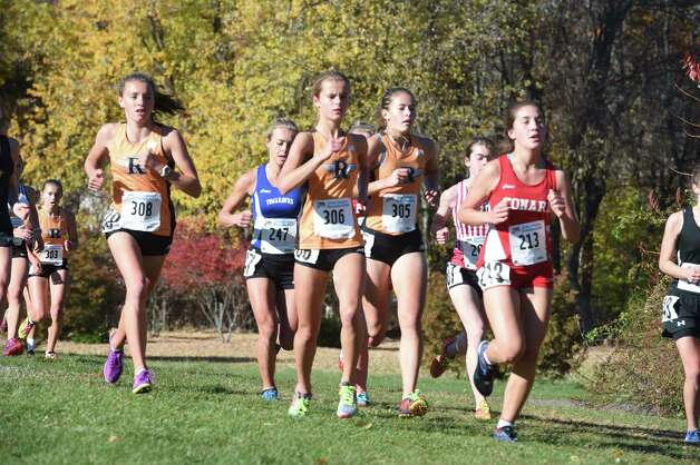 The Class L Girls CIAC Cross Country Championship at Wickham Park in Manchester on 10/31/2015.  Photo by Arnold Gold/New Haven Register   agold@newhavenregister.com