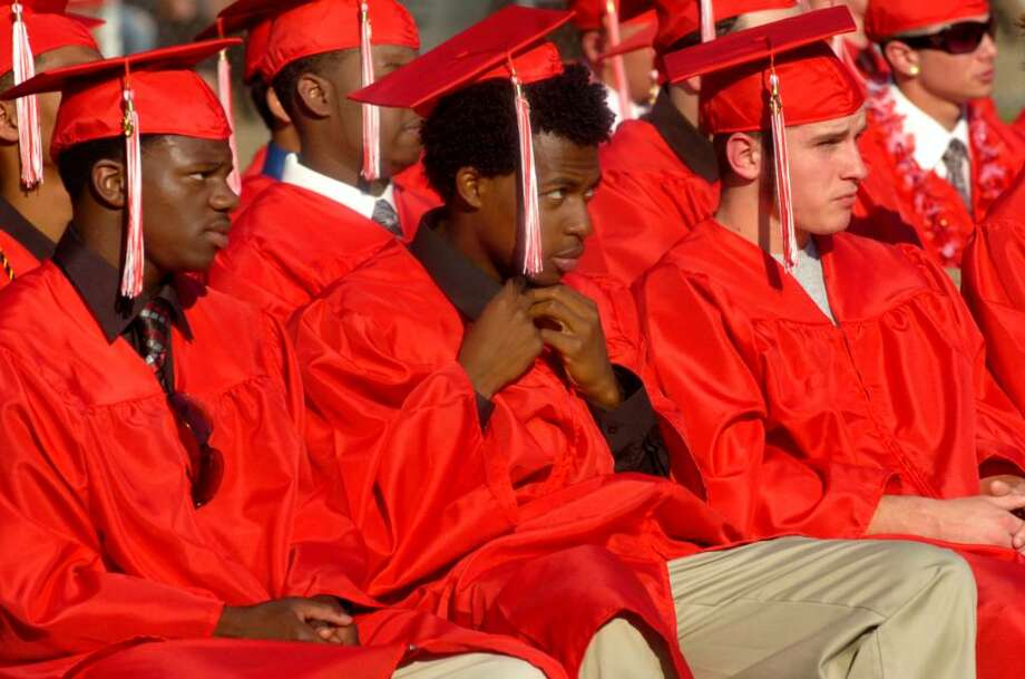 Derby High School students participate in the graduation ceremony Friday, June 18, 2010. Photo: Lindsay Niegelberg / Connecticut Post