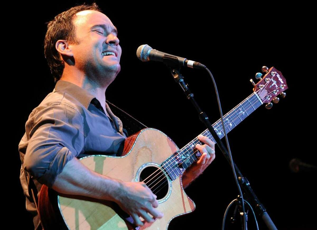 """In this Getty Images photo, singer/songwriter Dave Matthews performs during the """"Music Saves Mountains"""" benefit concert at the Ryman Auditorium on May 19 in Nashville, Tenn. The Dave Matthews Band is scheduled to play a benefit concert June 26 at Greenwich's Belle Haven Club."""