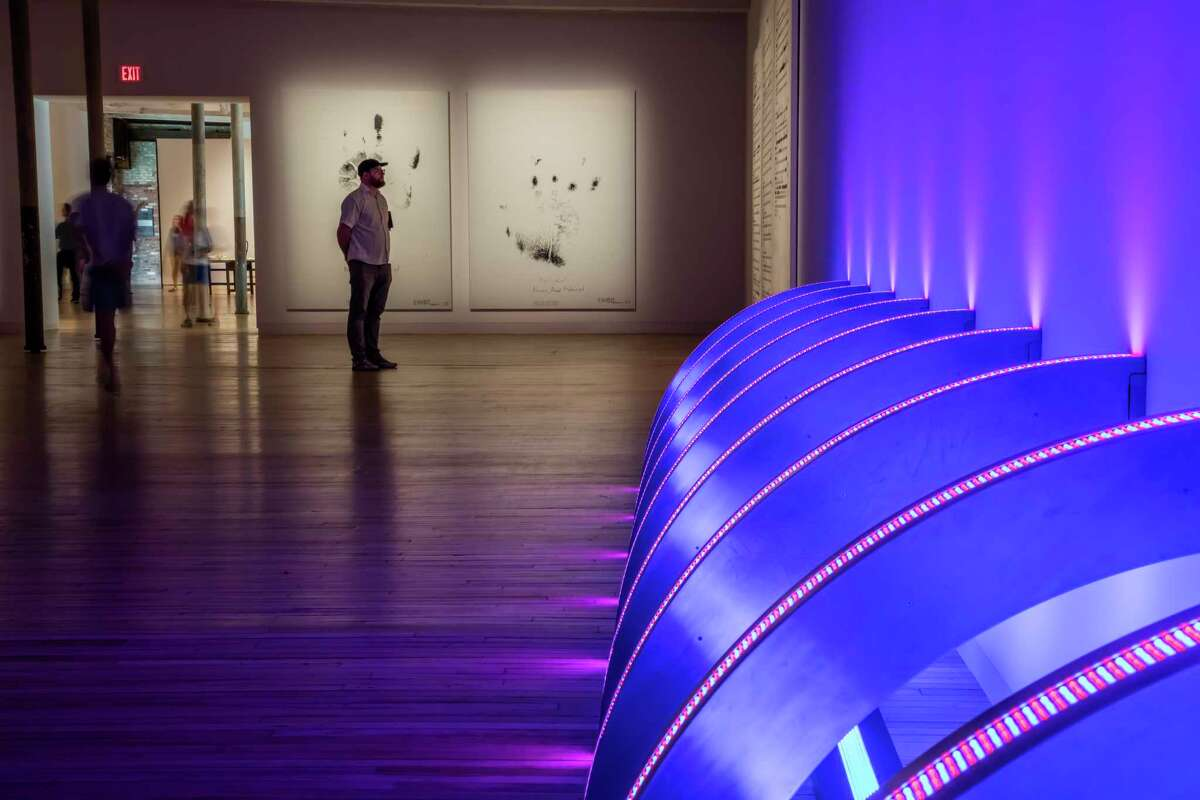 A work by Jenny Holzer at the Massachusetts Museum of Contemporary Art in North Adams, Mass., June 10, 2017. MASS MoCA has brought its gallery space to 250,000 square feet in an expansion that also lets patrons navigate it from start to finish without backtracking. (Tony Cenicola/The New York Times) ORG XMIT: XNYT94