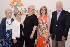 SilverSource announced the winners of its annual awards: Pat Knebel, left, Roni Lang, Silversource Executive Director Kathleen Bordelon, Denise Cesareo, and Jim Lisher.