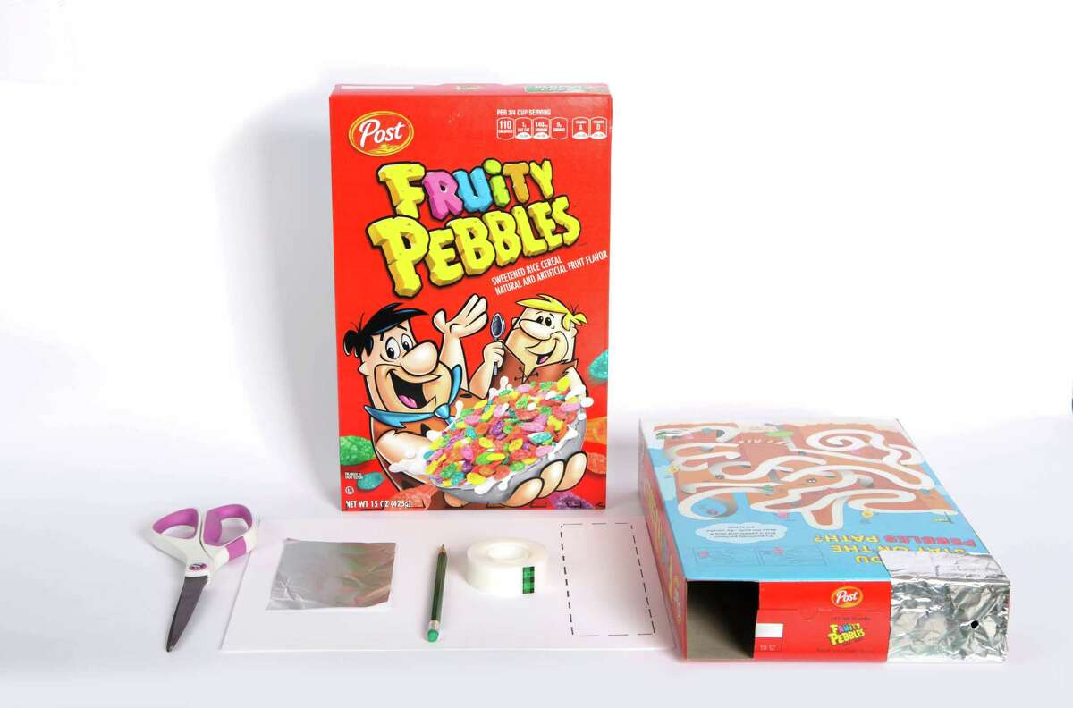 You can make a pinhole projector out of a Fruity Pebbles or other cereal box